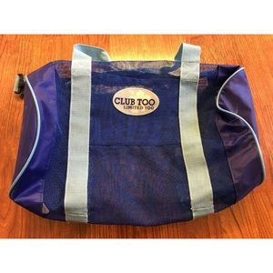 Vintage Limited Too Mesh Bag Blue Mesh Club Too
